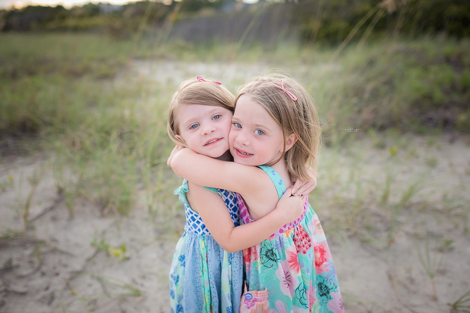 sisters photo session charleston sc - Kiawah Island Family Session