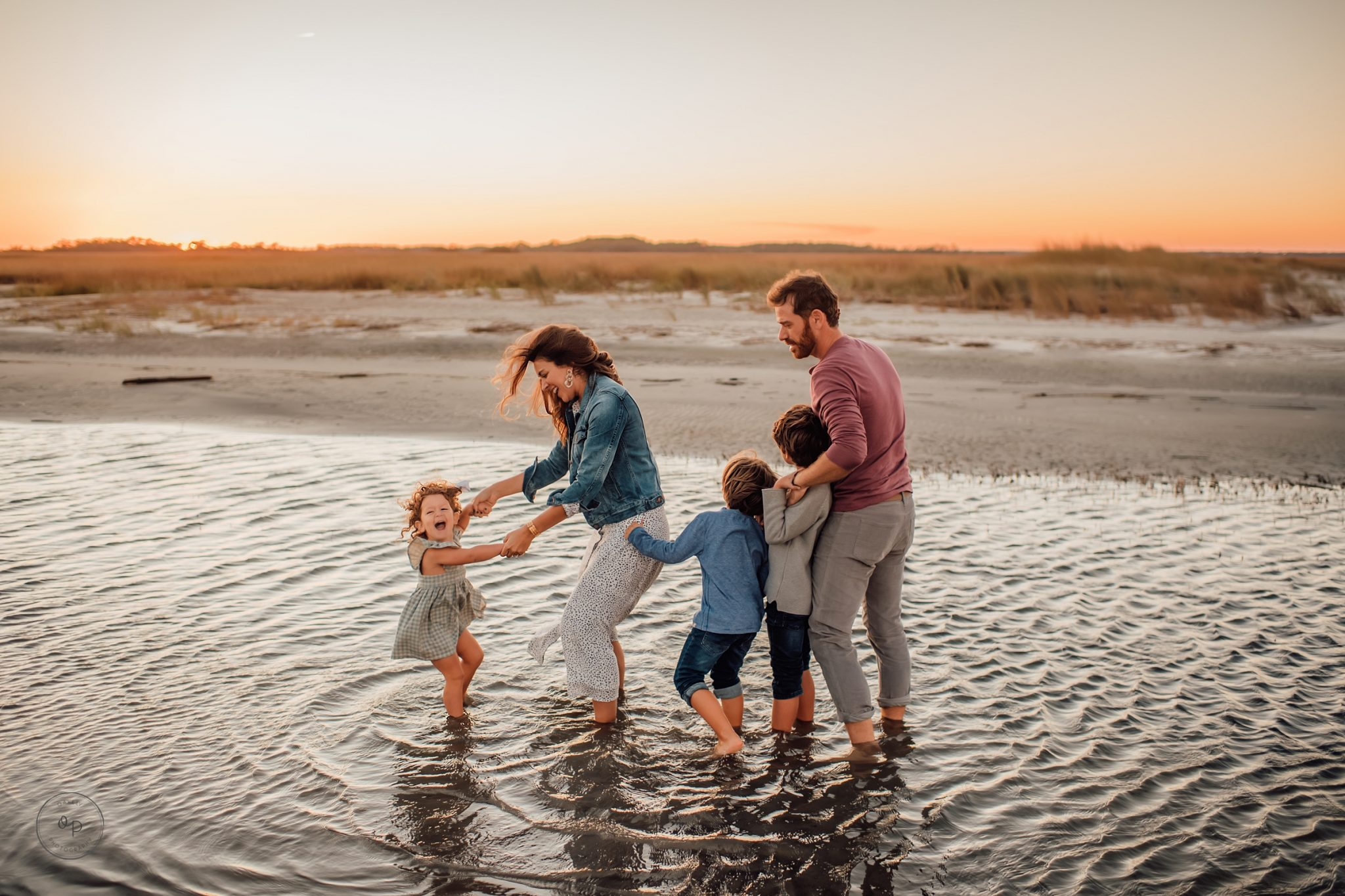 charleston beach family session